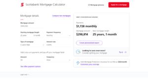 Scotiabank Mortgage Calculator