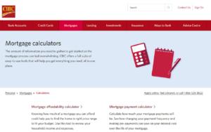 CIBC Mortgage Calculator